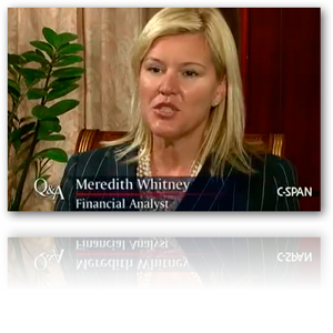Meredith Whitney: Housing to Double-Dip in Q4 2010